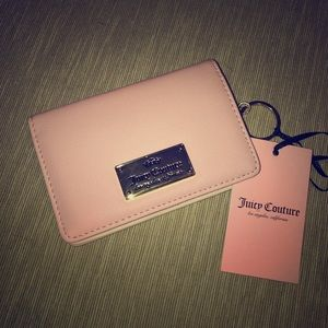 NWT Juicy Couture pink/gold wallet